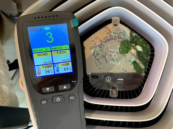 Dienmern 空気汚染測定器と空気清浄機