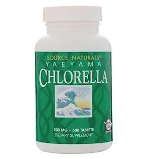 Source Naturals 八重山クロレラ 200 mg 600錠